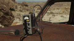 Geiger Counter from 1950s Era Cold War in Medium Shot Stock Footage
