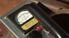 Geiger Counter from 1950s Era Cold War in Close-up View - stock footage