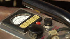 Geiger Counter from 1950s Era Cold War in Extreme Close Up Stock Footage