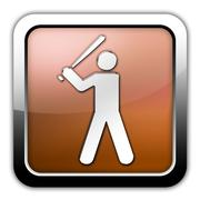 Icon, button, pictogram baseball Stock Illustration
