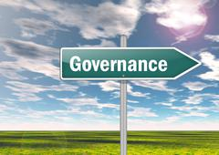 Stock Illustration of signpost governance