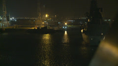 Night harbour,  UK Stock Footage