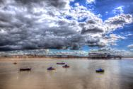 Weston-super-Mare Somerset England in colourful HDR Stock Photos