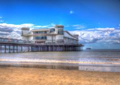 Weston-super-Mare Somerset England in colourful HDR - stock photo