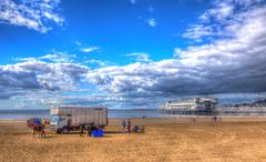 Stock Photo of Weston-super-Mare Somerset England in colourful HDR
