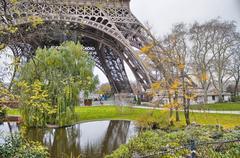 Paris. Wonderful view of Eiffel Tower. La Tour Eiffel in winter Stock Photos