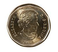 Ottawa, Canada, Avril 13, 2013,  A brand new shiny 2012 Canadian dollar Stock Photos