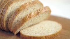 Sliced bread Stock Footage