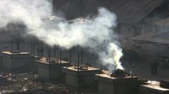 Stock Video Footage of Cremation, burning ceremony, Kathamandu