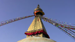 Bodnath Stupa in Kathmandu Stock Footage