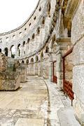 coliseum corridor way - stock photo