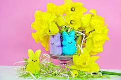 Easter bunny candy - stock photo