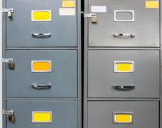 steel filing cabinet - stock photo