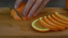 Orange slices Stock Footage