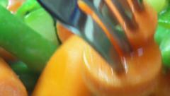 Mixed Vegetables, Veggies, Vegan, Foods Stock Footage