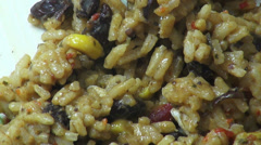 Mexican Rice, Mexican Foods, Grains Stock Footage