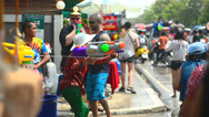 Stock Video Footage of Female dance on street, Chiang mai Water festival