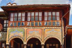 A traditional old house in Koprivshtitsa Bulgaria, from the time - stock photo
