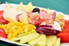 A mixed salad typical for the Balkan region - stock photo