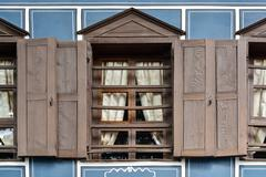 Old window, architectural detail of a house in Koprivshtitsa, Bu Stock Photos