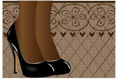 Shoes and stockings Stock Illustration