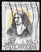 Postage stamp Vatican 1973 St. Teresa of Lisieux, Carmelite Nun Stock Photos