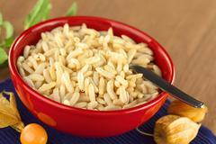 Puffed rice cereal Stock Photos