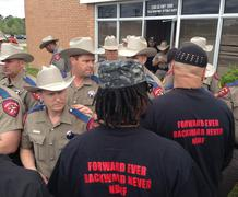 State Troopers vs. Black Nationalists - stock photo