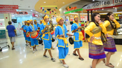 Long Drum Parade Thailand culture Stock Footage