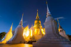 Wat suandok famous temple of chiang mai, thailand Stock Photos
