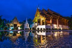 Wat phra sing famous temple of chiang mai, thailand Stock Photos