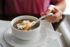 Chinese soup - stock photo