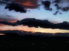 Sunset Mountains City Lights Stock Footage