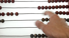 Abacus count over white background Stock Footage