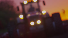 Stock video footage farmer on a tractor in a field 4K 1 - stock footage