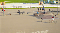 Sports ground, Vilnius, Lithuania. Stock Footage