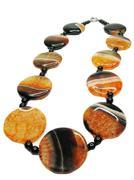 agate semiprecious mineral beads - stock photo