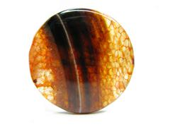 red agate semigem mineral crystal - stock photo
