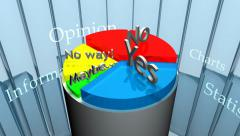 Pie Chart CG - Opinions (HD) - stock footage