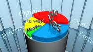 Stock Video Footage of Pie Chart CG - Opinions (HD)