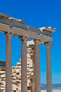 ruins of the acropolis. - stock photo