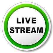Vector live stream icon Stock Illustration