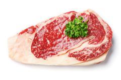 Beef rib eye steak Stock Photos