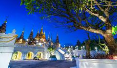 Beautiful hotel of chiang mai thailand Stock Photos