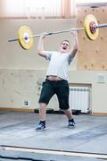 heavy athletics, weightlifter... ... - stock photo