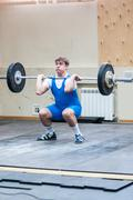 Heavy athletics, weightlifter... ... Stock Photos