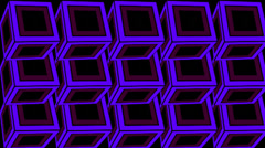 Flash Neon Cubes 01 Stock Footage