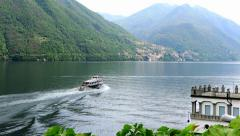 Boat trip on lake como, lombardy, italy Stock Footage