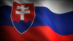 Flag of Slovakia Stock Footage