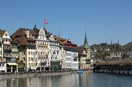 Lucerne old town Stock Photos
